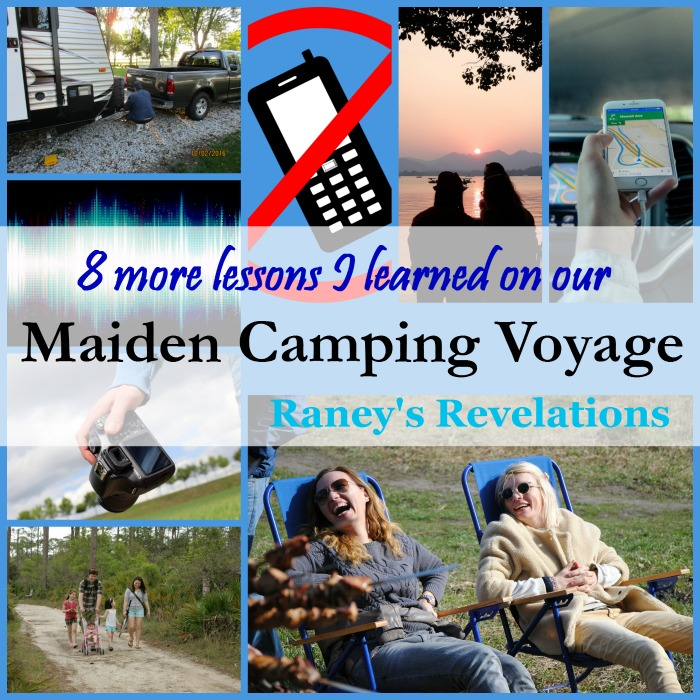 8 more lessons I learned on our maiden camping voyage | www.raneysrevelations.com