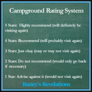 Campground Rating System | www.raneysrevelations.com