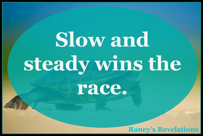 Slow and steady wins the race. | www.raneysrevelations.com