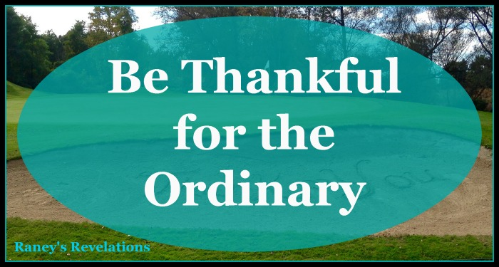 Be Thankful for the Ordinary. | www.raneysrevelations.com