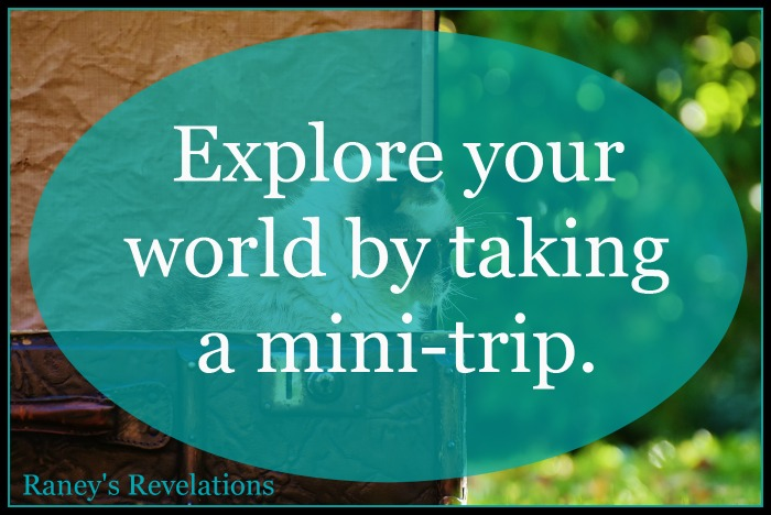 Explore your world by taking a mini-trip. | www.raneysrevelations.com