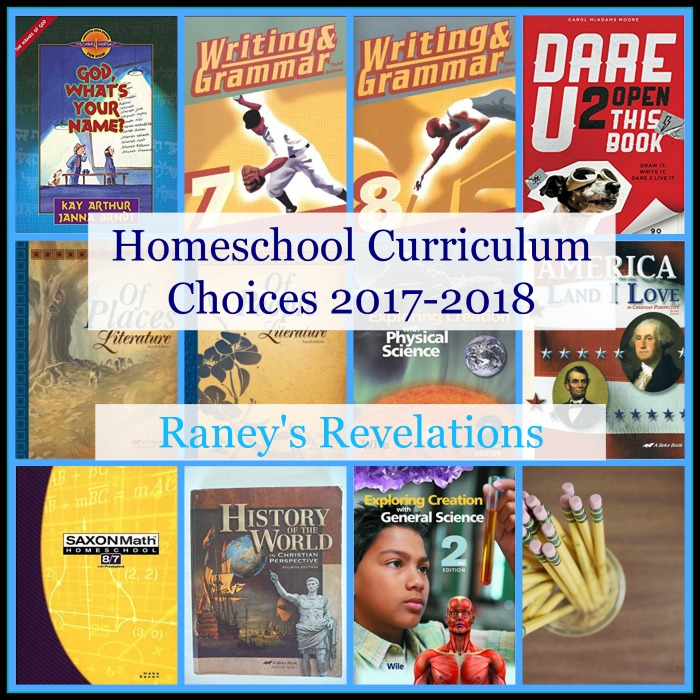 What Homeschool curriculum are we using this year? | www.raneysrevelations.com